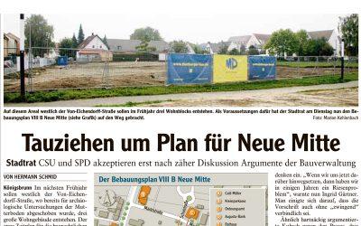 Tauziehen um Plan für Neue Mitte