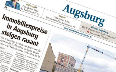 Immobilienpreise in Augsburg steigen rasant
