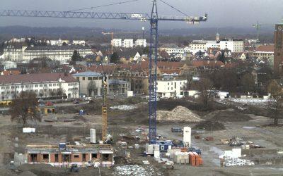 Baustellenfotos vom Reesepark Augsburg