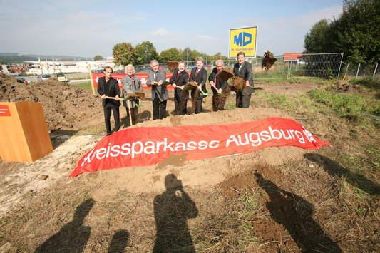 Spatenstich der Kreissparkasse Augsburg in Diedorf